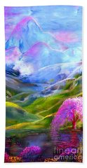 Blue Mountain Pool Beach Towel by Jane Small