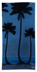 Blue - Night - Beach Beach Towel