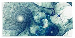 Blue Octopus Beach Towel