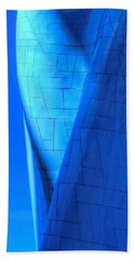 Blue On Blue Cropped Version Beach Towel by Chris Anderson