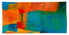 Blue Orange 2 Beach Towel