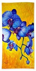 Blue Orchids 1 Beach Towel
