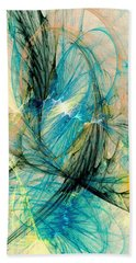 Blue Phoenix Beach Towel
