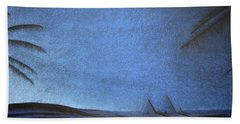 Beach Sheet featuring the drawing Blue Pyramid by Mayhem Mediums