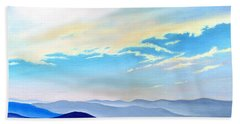 Blue Ridge Blue Above Beach Towel