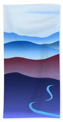 Blue Ridge Blue Road Beach Towel