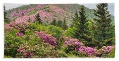 Blue Ridge Mountain Rhododendron - Roan Mountain Bloom Extravaganza Beach Towel
