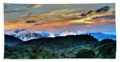 Blue Ridge Mountain Sunrise  Beach Towel