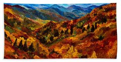 Blue Ridge Mountains In Fall II Beach Sheet by Julie Brugh Riffey