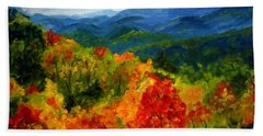 Blue Ridge Mountains In Fall Beach Sheet by Julie Brugh Riffey