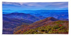 Beach Towel featuring the photograph Blue Ridge Parkway by Alex Grichenko