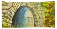 Blue Ridge Tunnel Beach Towel