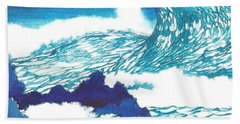 Blue Roar Beach Towel