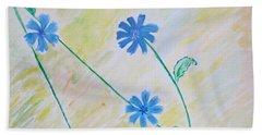 Blue Sailors Beach Towel