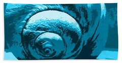 Beach Towel featuring the photograph Blue Shell - Sea - Ocean by Susan Carella