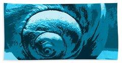 Blue Shell - Sea - Ocean Beach Towel by Susan Carella