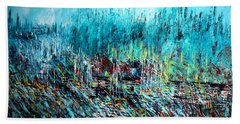 Blue Skies Chicago - Sold Beach Towel by George Riney