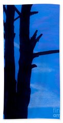 Beach Towel featuring the drawing Blue Sky Tree by D Hackett