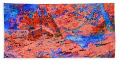 Blue Splash Poppy Rock Beach Towel by Stephanie Grant