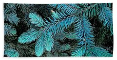 Beach Towel featuring the photograph Blue Spruce by Daniel Thompson