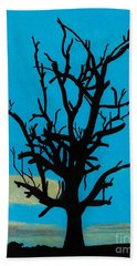 Beach Towel featuring the drawing Blue Sunset by D Hackett