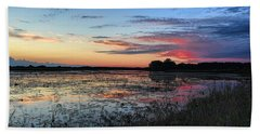 Blue Sunset Over The Refuge Beach Towel