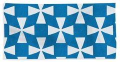 Blue Twirl Beach Towel