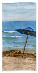 Blue Umbrella Beach Towel