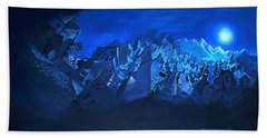 Blue Village Beach Sheet by Joseph Hawkins