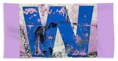 Blue W Beach Sheet by Ethna Gillespie