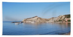 Beach Towel featuring the photograph Blue Water by George Katechis