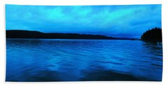 Blue Water In The Morn  Beach Towel