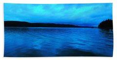 Blue Water In The Morn  Beach Towel by Jeff Swan
