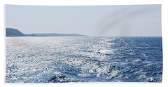 Beach Towel featuring the photograph Blue Waters by George Katechis