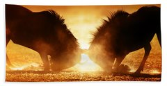 Blue Wildebeest Dual In Dust Beach Towel