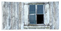 Blue Window In Weathered Wall Beach Sheet