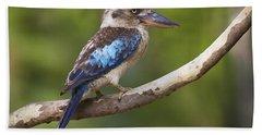 Blue-winged Kookaburra Queensland Beach Towel
