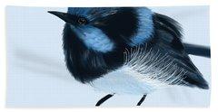 Blue Wren Beauty Beach Towel