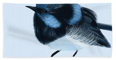 Blue Wren Beauty Beach Sheet