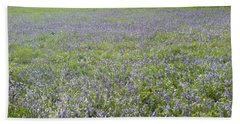 Bluebell Fields Beach Towel by John Williams