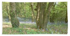 Bluebell Wood Beach Sheet by John Williams