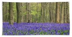 Bluebells Surrey England Uk Beach Sheet