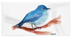 Beach Towel featuring the painting Bluebird by C Sitton
