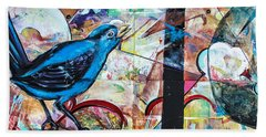 Bluebird Sings With Happiness Beach Towel