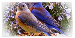 Bluebird Wedding Beach Towel