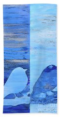 Bluebirds Beach Towel