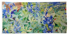 Bluebonnet Beauties Beach Sheet