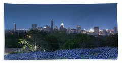 Bluebonnet Twilight Beach Towel