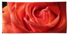 Blushing Orange Rose 1 Beach Sheet