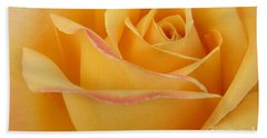Blushing Yellow Rose Beach Towel